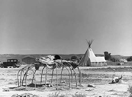 Una sweat lodge dei Cheyenne