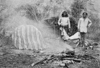 Una sweat lodge dei Navajo